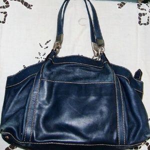 Hogan by Tod's Blue Leather Vintage Shoulder Purse